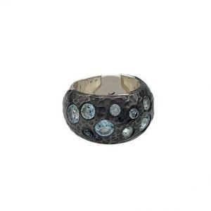 Nicky Blystad, Astraea Ring, Blue Topaz