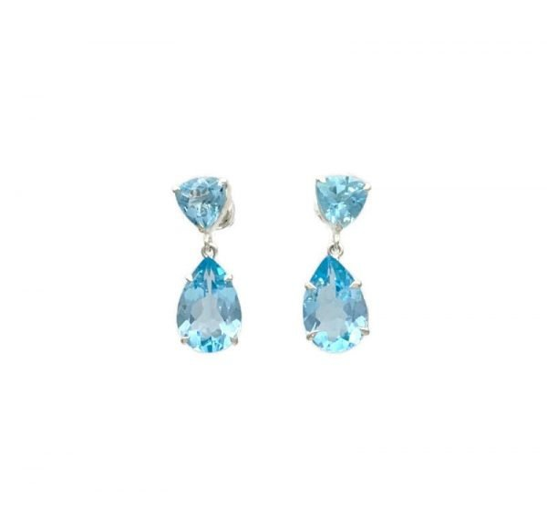 Esyn Post Earrings, Blue Topaz, Nicky Blystad Jewellery