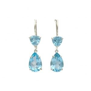 Esyn Hook Earrings, Blue Topaz, Nicky Blystad Jewellery