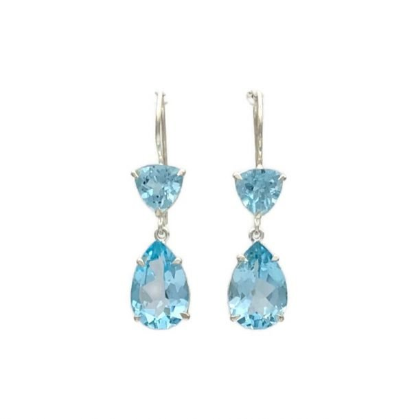 Esyn Hook Earrings, Blue Topaz, Nicky Blystad Jewellery
