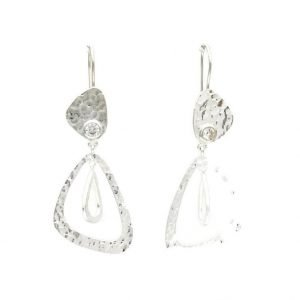 Tidona Hook Earrings, Cubic Zirconia, Nicky Blystad Jewellery